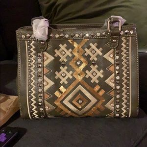 Montana West Bags - NWT • sequin tribal crossbody